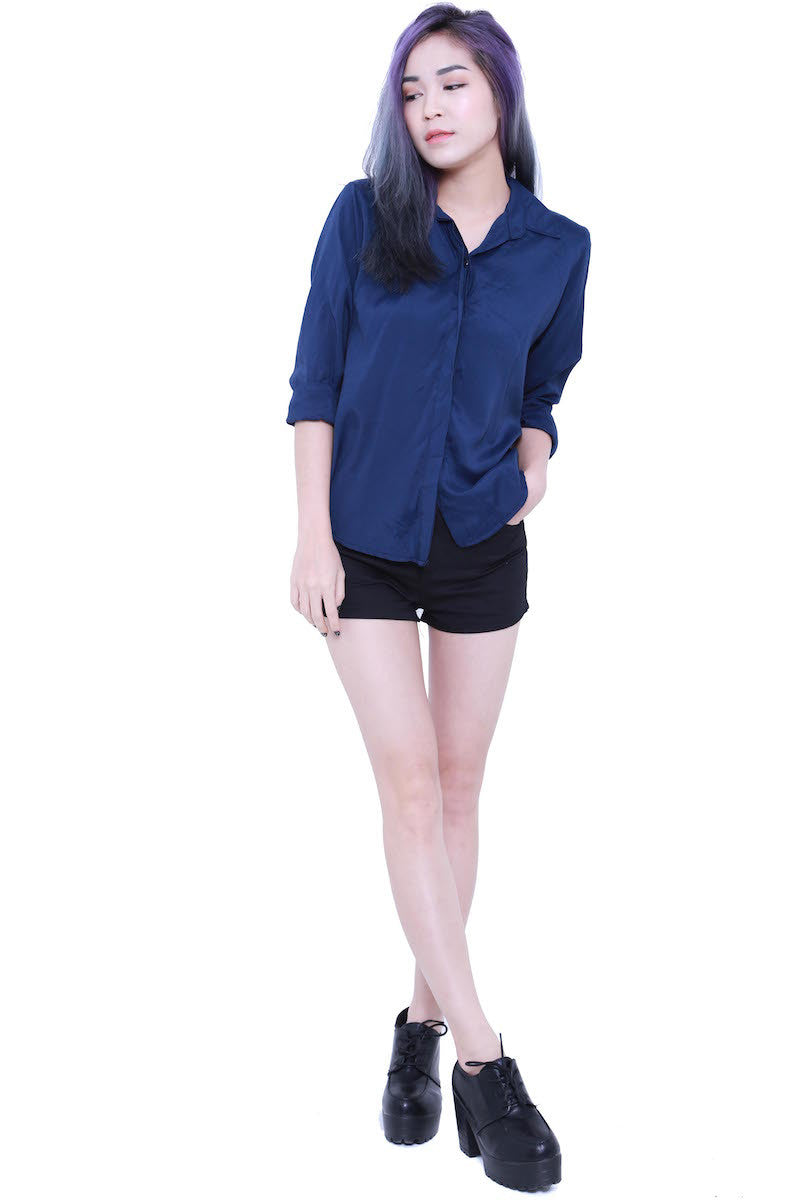 Casual Shirt (Navy) -  - 1