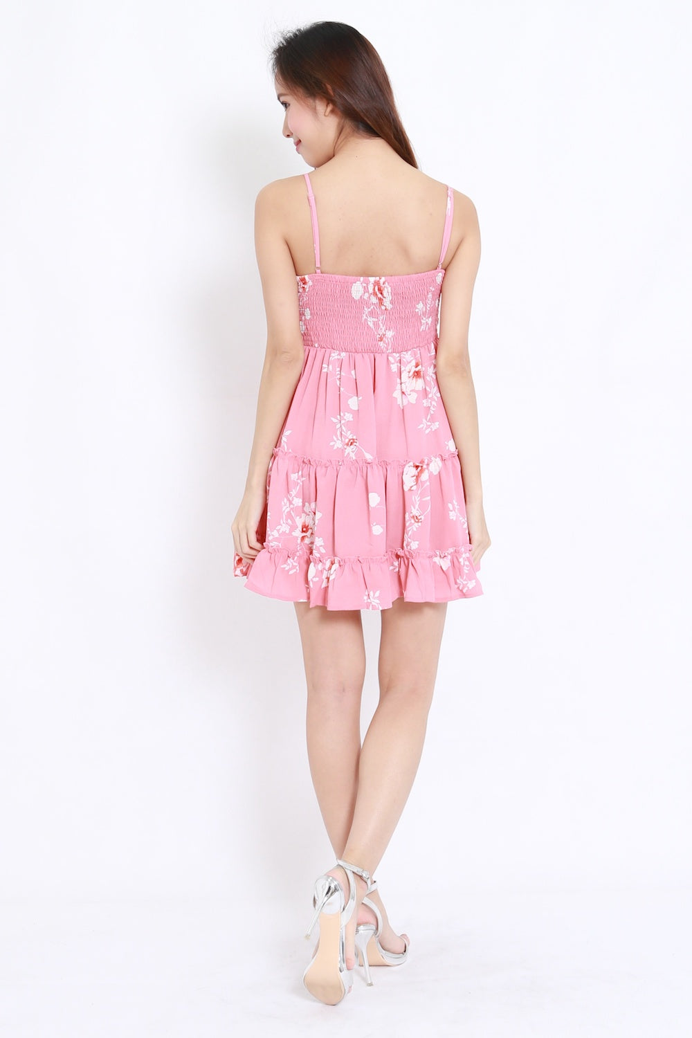 Bow Front Layer Pink Dress