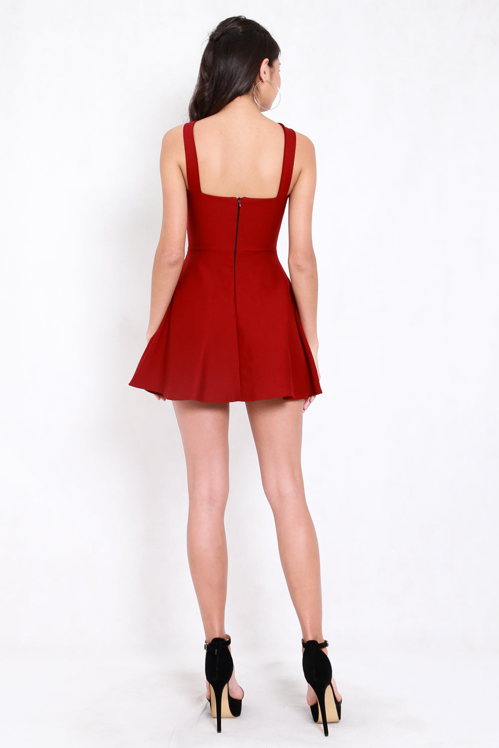 *Premium* Roselle Skater Dress (Maroon)