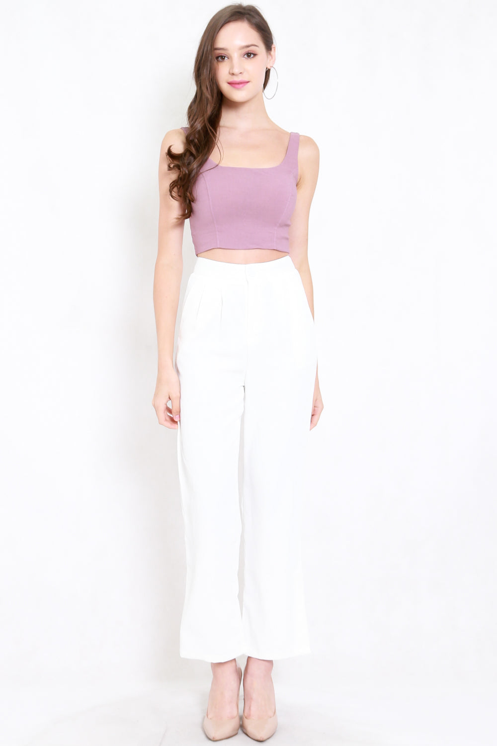 Scoop Neck Crop Top (Lavender)