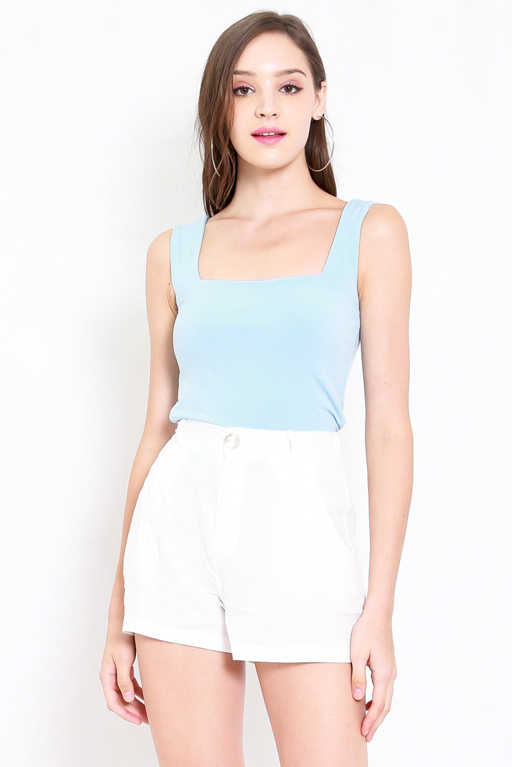 Maddy Square Neck Top (Baby Blue)
