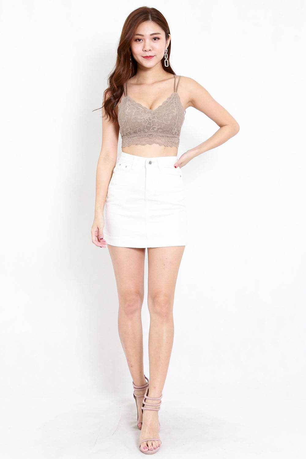 Rikka Lace Bralet (Taupe) *Push Up Effect*