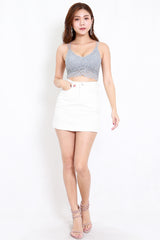 Basic Denim Skirt (White)