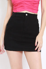 Basic Denim Skirt (Black)