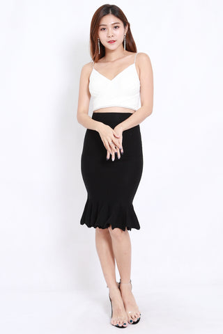 Black Mermaid Knit Skirt