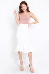 *Premium* Mermaid Midi Skirt (White)
