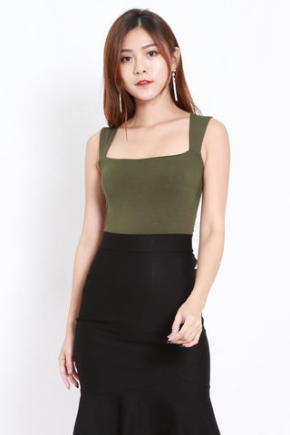 Queen Anne Top (Olive)
