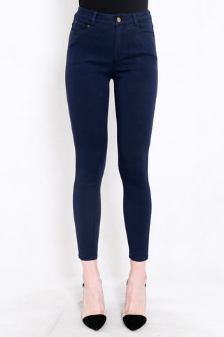 Skinny High Waist Jeans (Dark Blue)