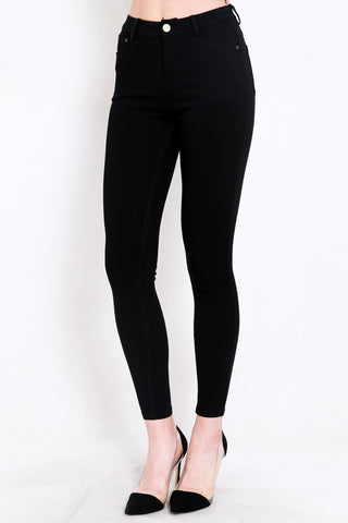 Skinny High Waist Jeans (Black)