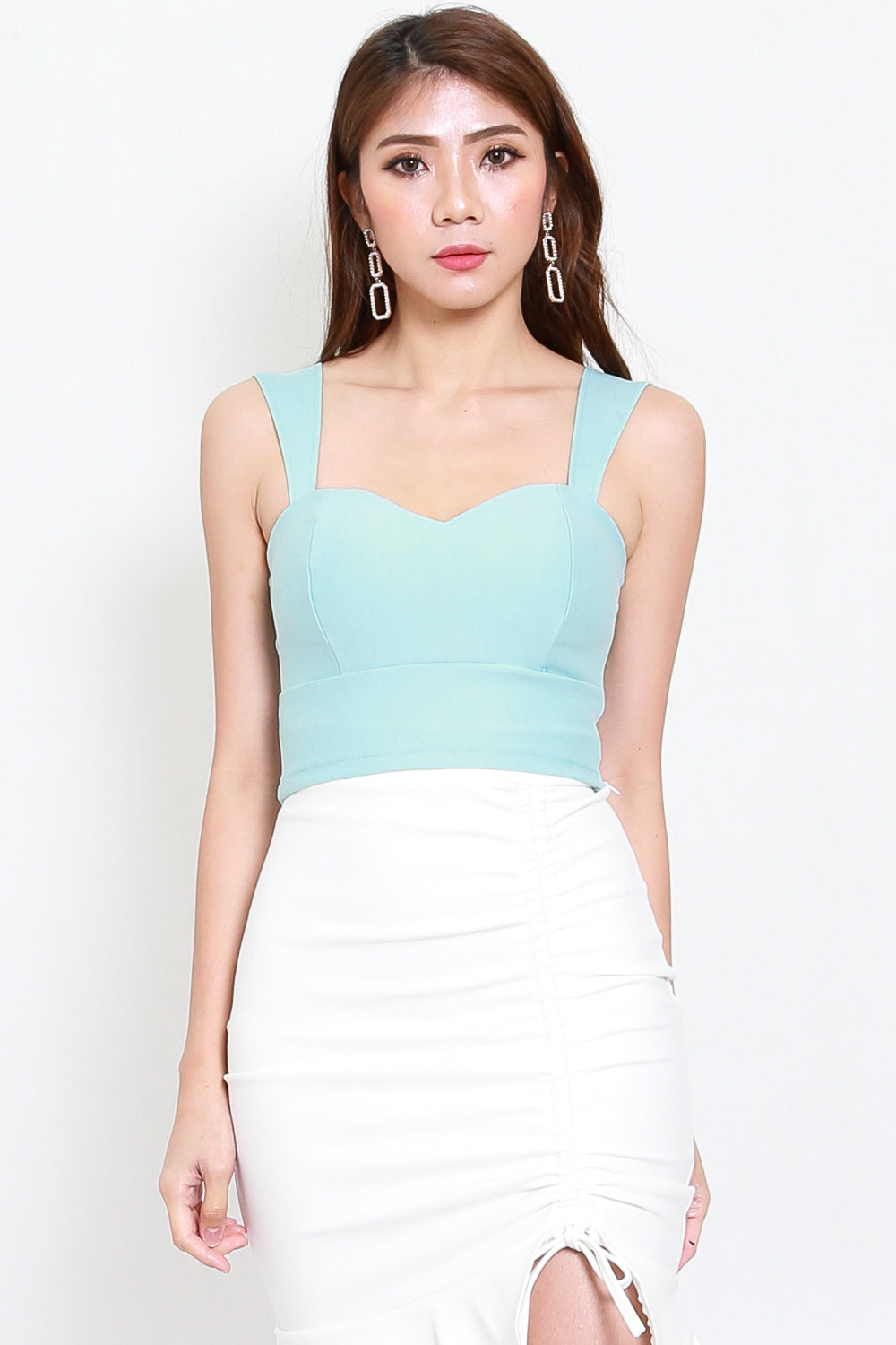 *Premium* Miranda Sweetheart Top (Tiffany Blue)