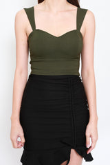 Miranda Sweetheart Top (Olive)