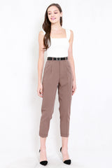 Betty Tapered Pants (Brown)