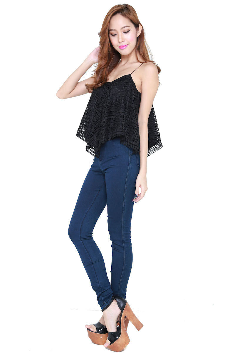 Net Flutter Top (Black) -  - 5