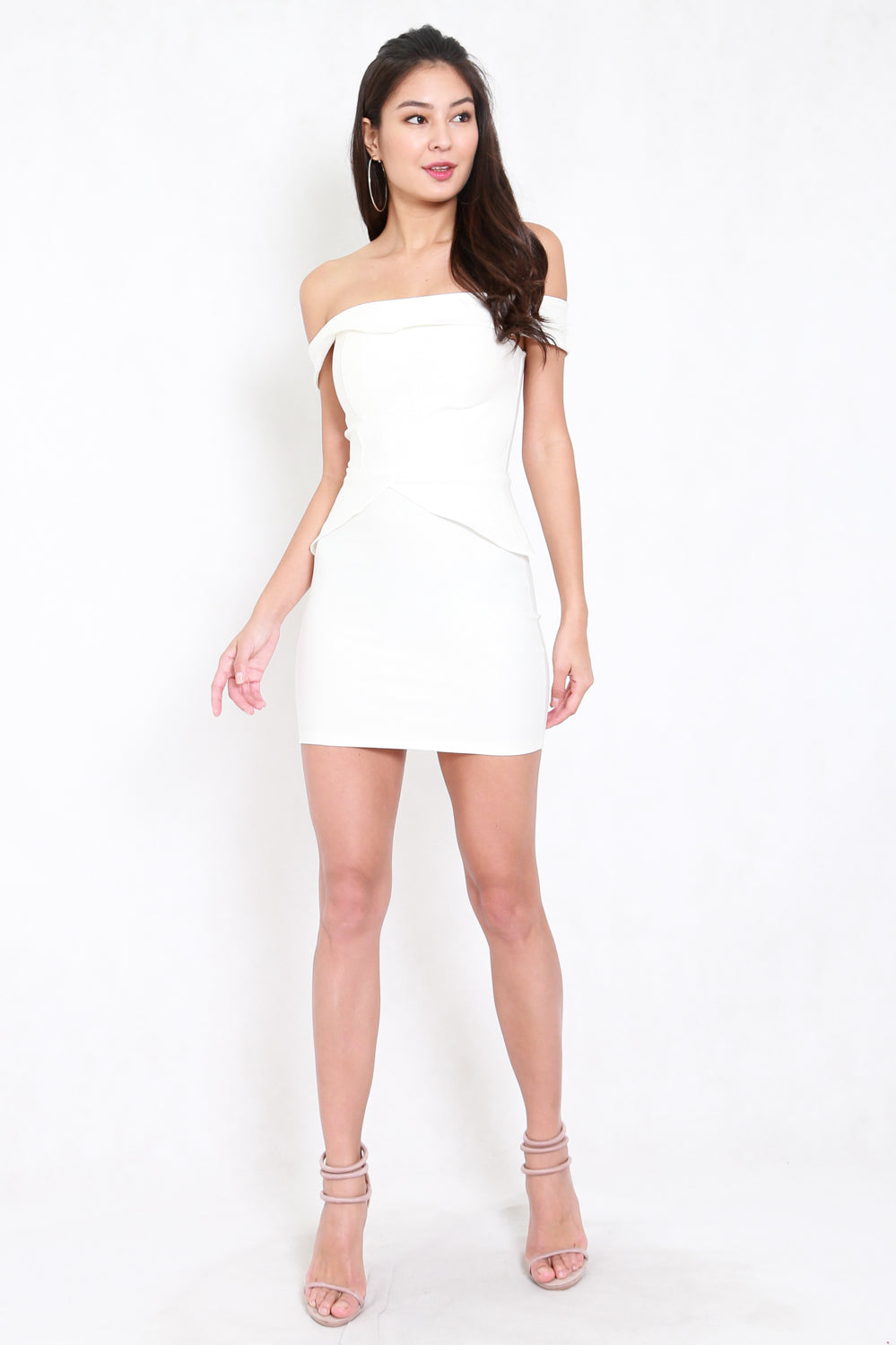 *Premium* Talisha Off Shoulder Dress (White)