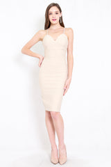 *Premium* Sweetheart Cross Back Midi Dress (Ivory)