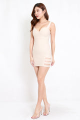 *Premium* Cutout Sweetheart Bodycon Dress (Ivory)