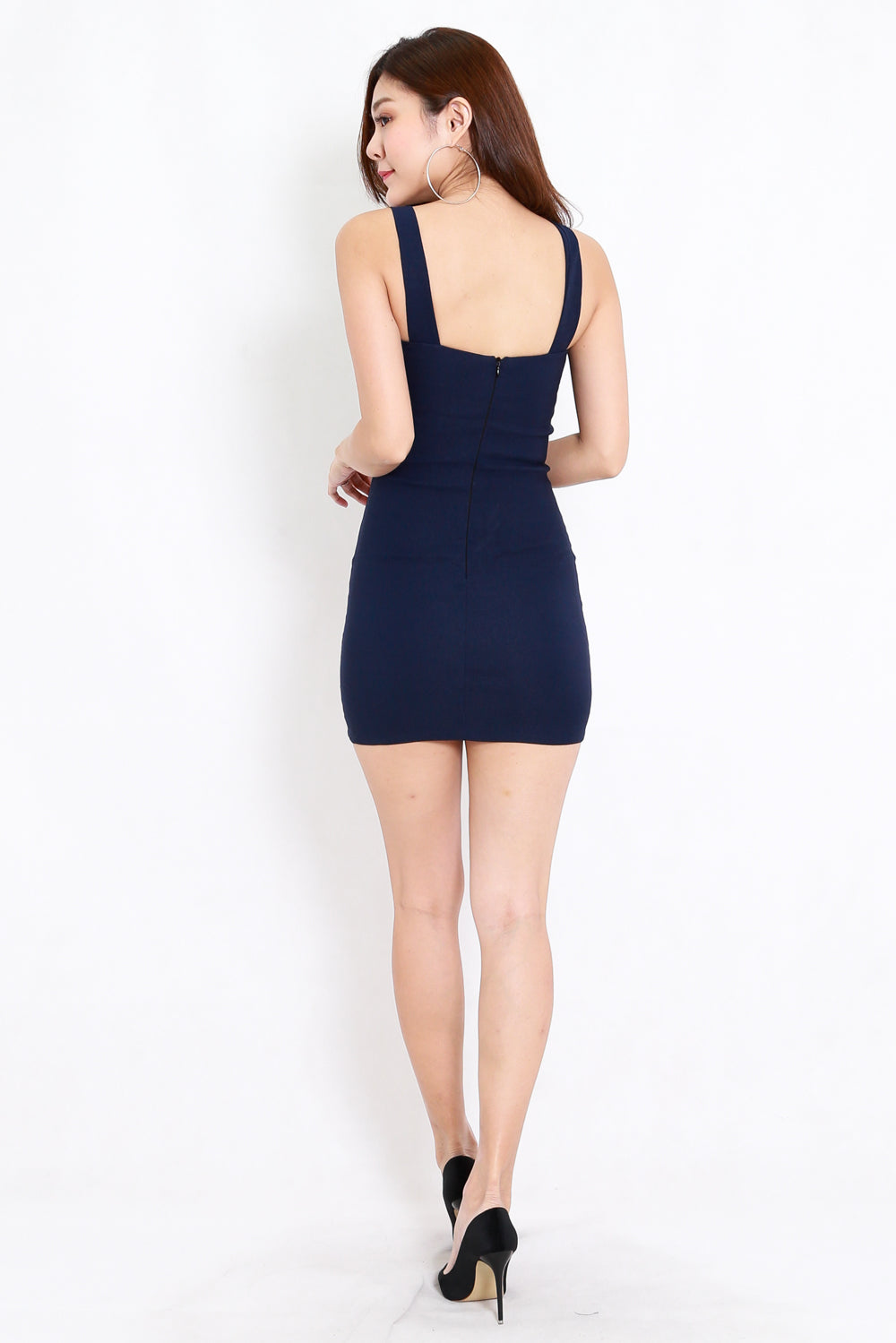 Braided Bodycon Dress (Navy)