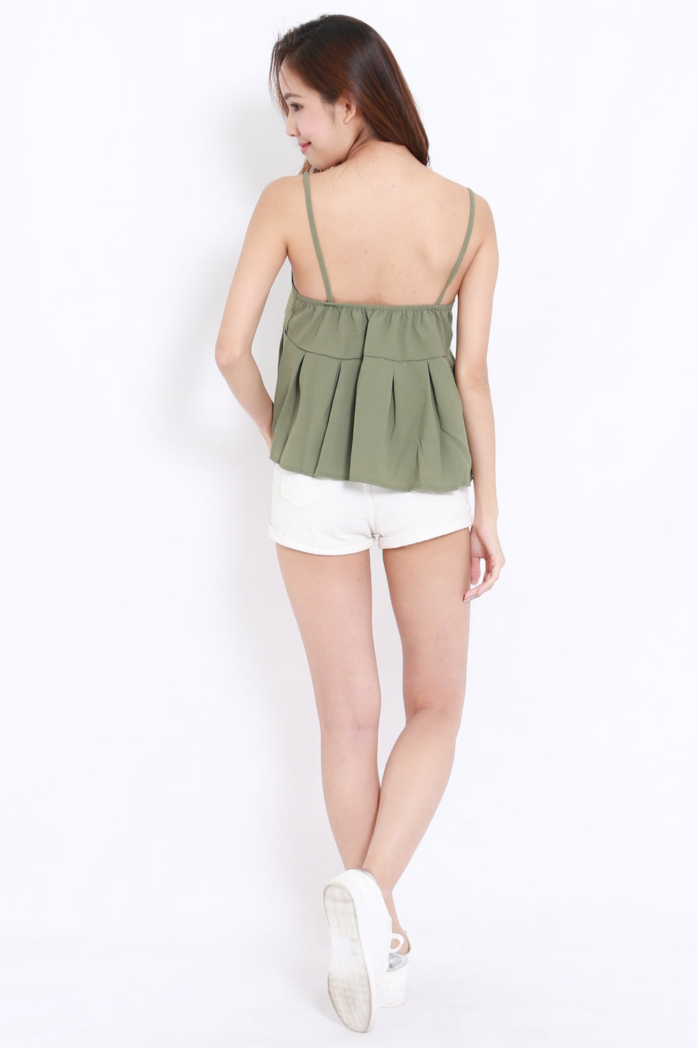Pleated Babydoll Spag (Green)