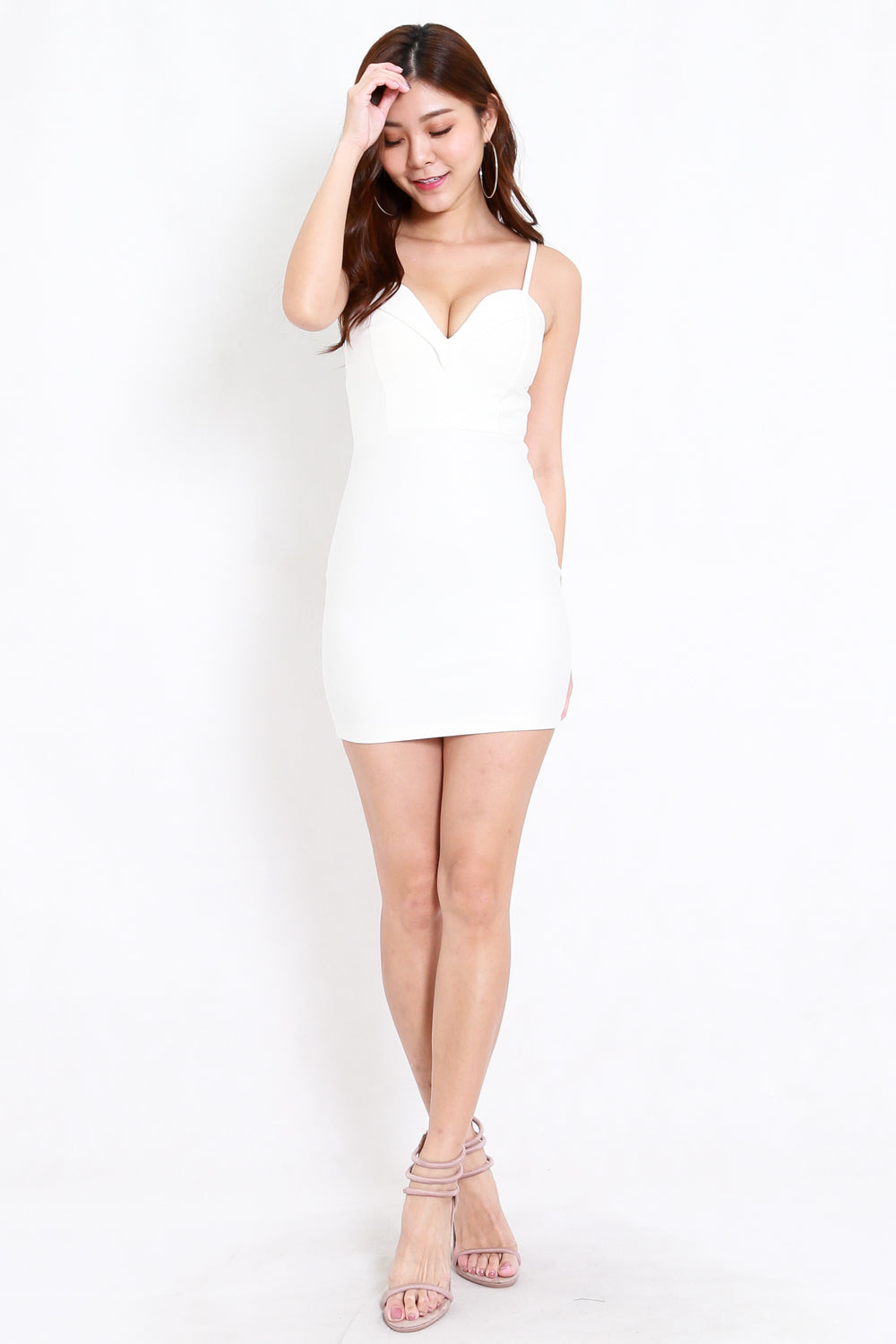 *Premium* Missha Sweetheart Dress (White)