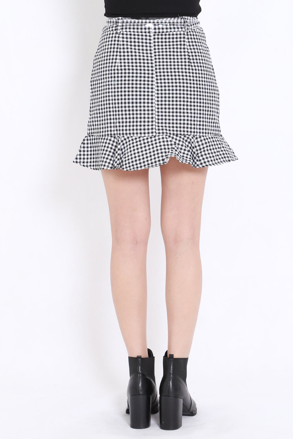 Gingham Mermaid Skirt (Black)