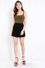 Vanessa Double Slit Skirt (Black)