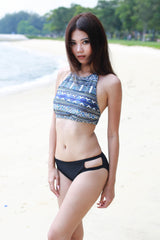 Aztec High Neck Bikini -  - 3