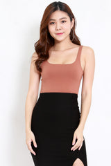 Scoop Neck Top (Camel)