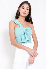 *Premium* Festive Toga Top (Tiffany Blue)
