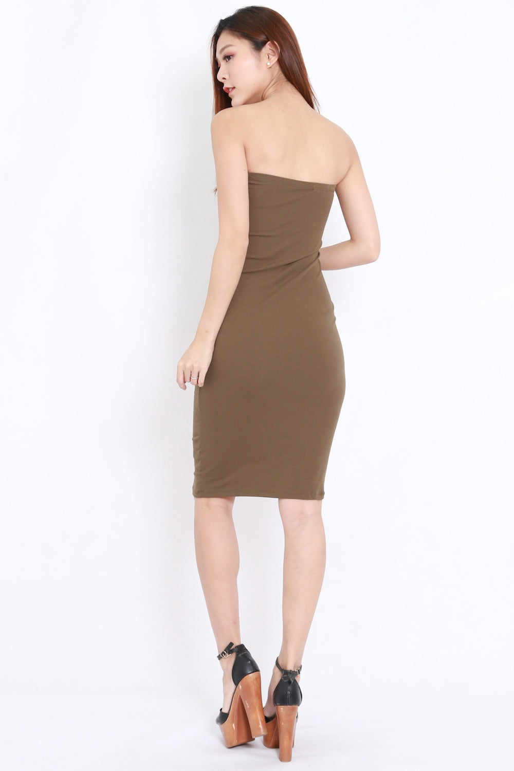 Basic Tube Midi Dress (Olive)