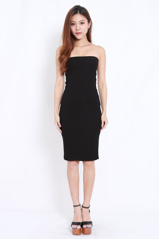 Basic Tube Midi Dress (Black)