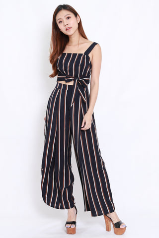 Stripes Jumpsuit 2pcs Set