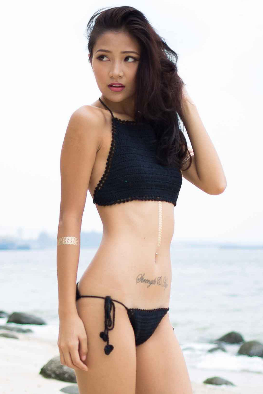 Diaz Crochet Bottom (Black) -  - 5
