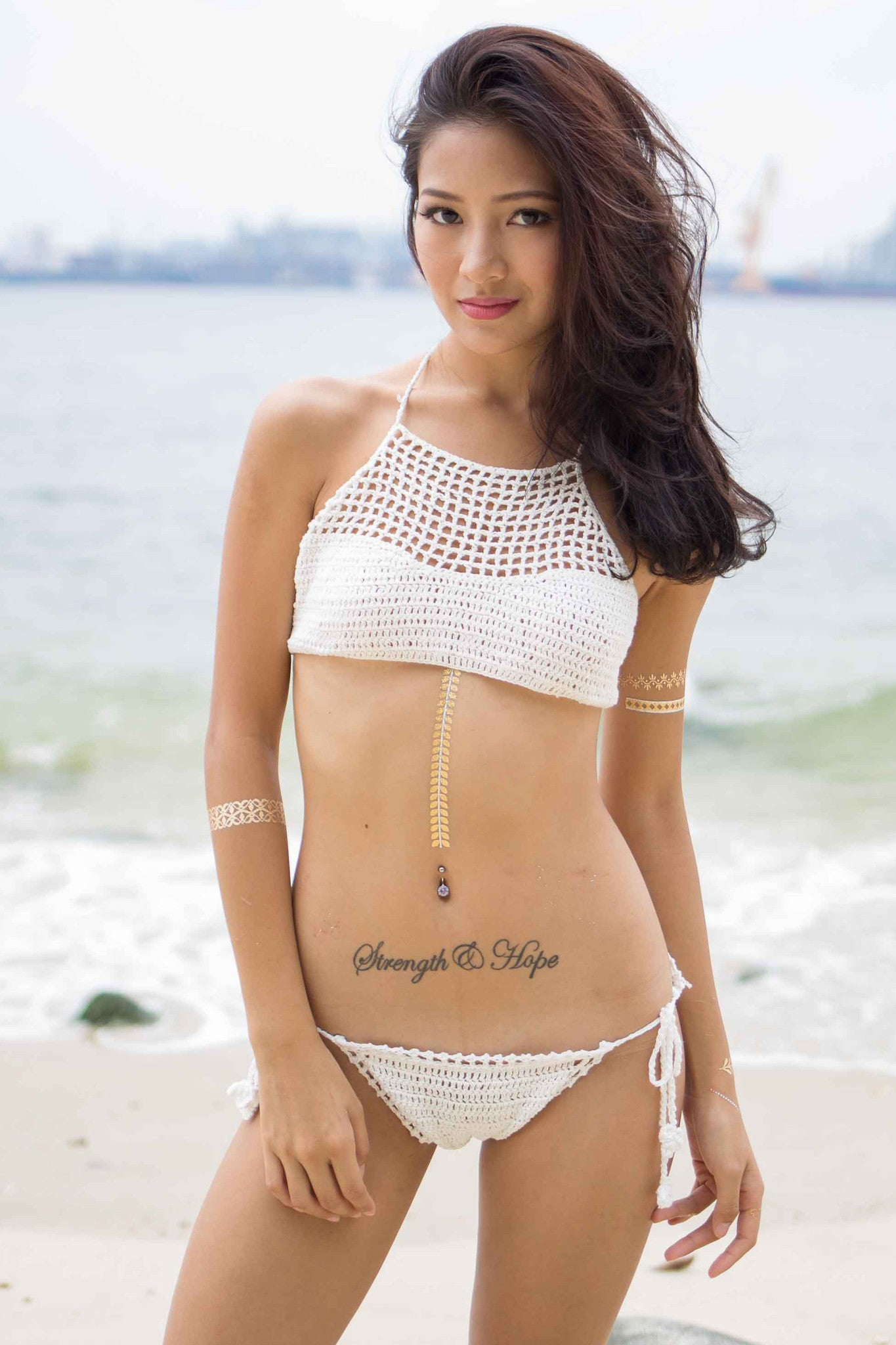 Diaz Crochet Bottom (White) -  - 7