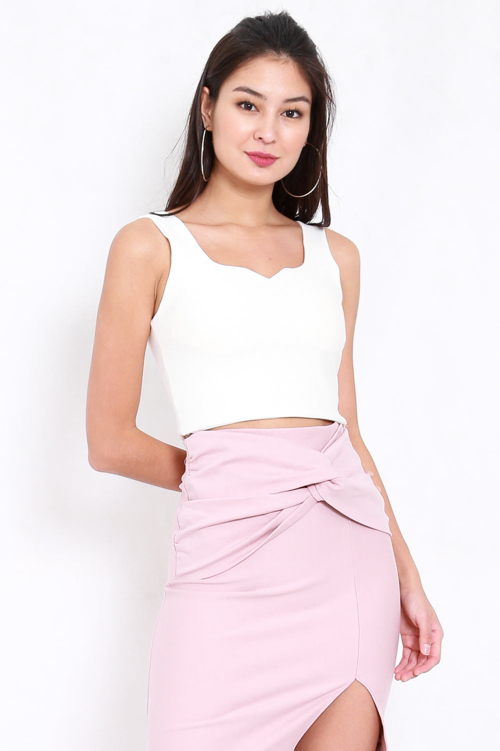 *Premium* Talia Sweetheart Top (White)