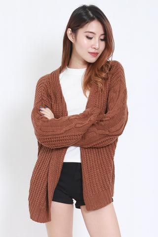 Kara Knit Cardigan (Brown) -