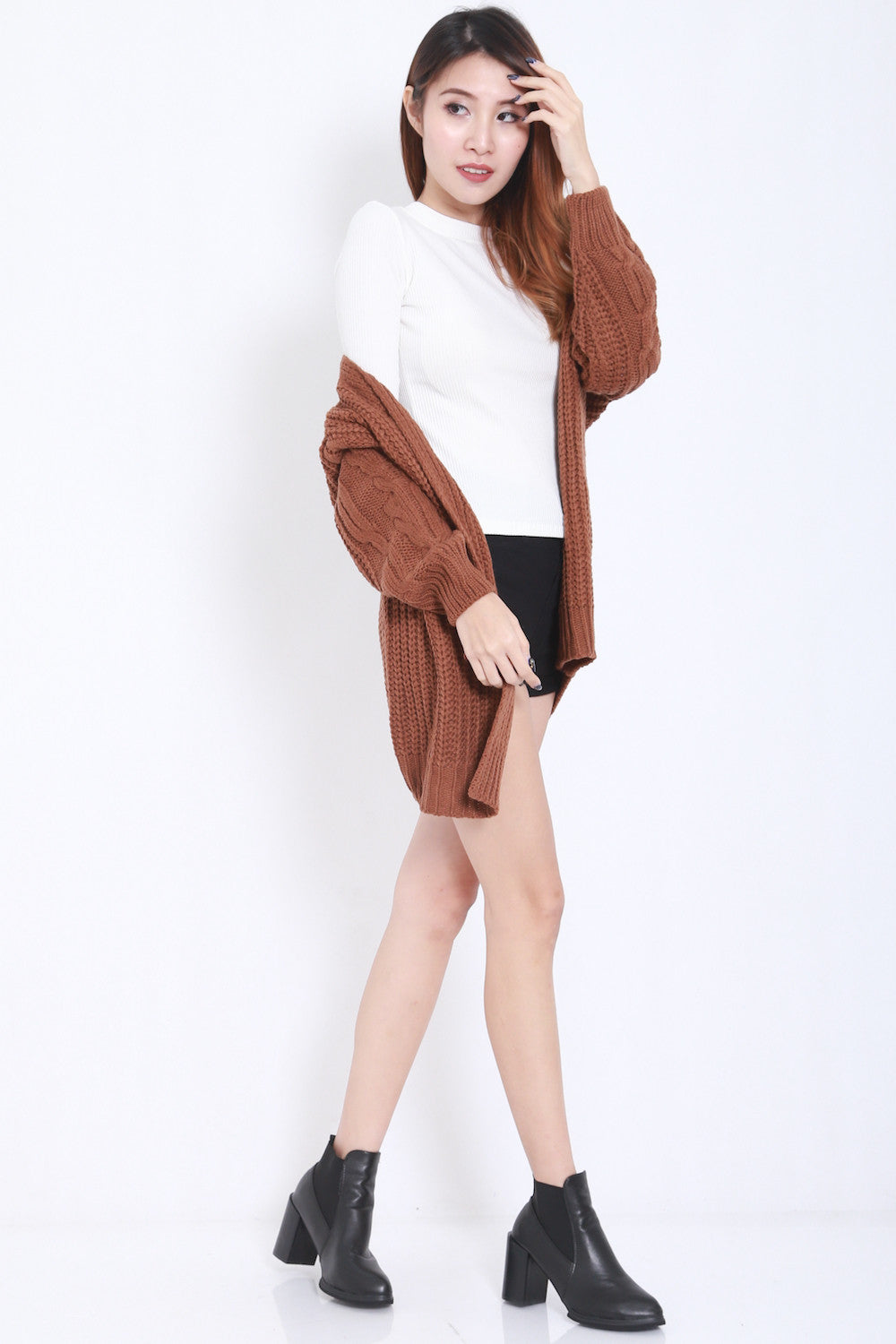 Kara Knit Cardigan (Brown)