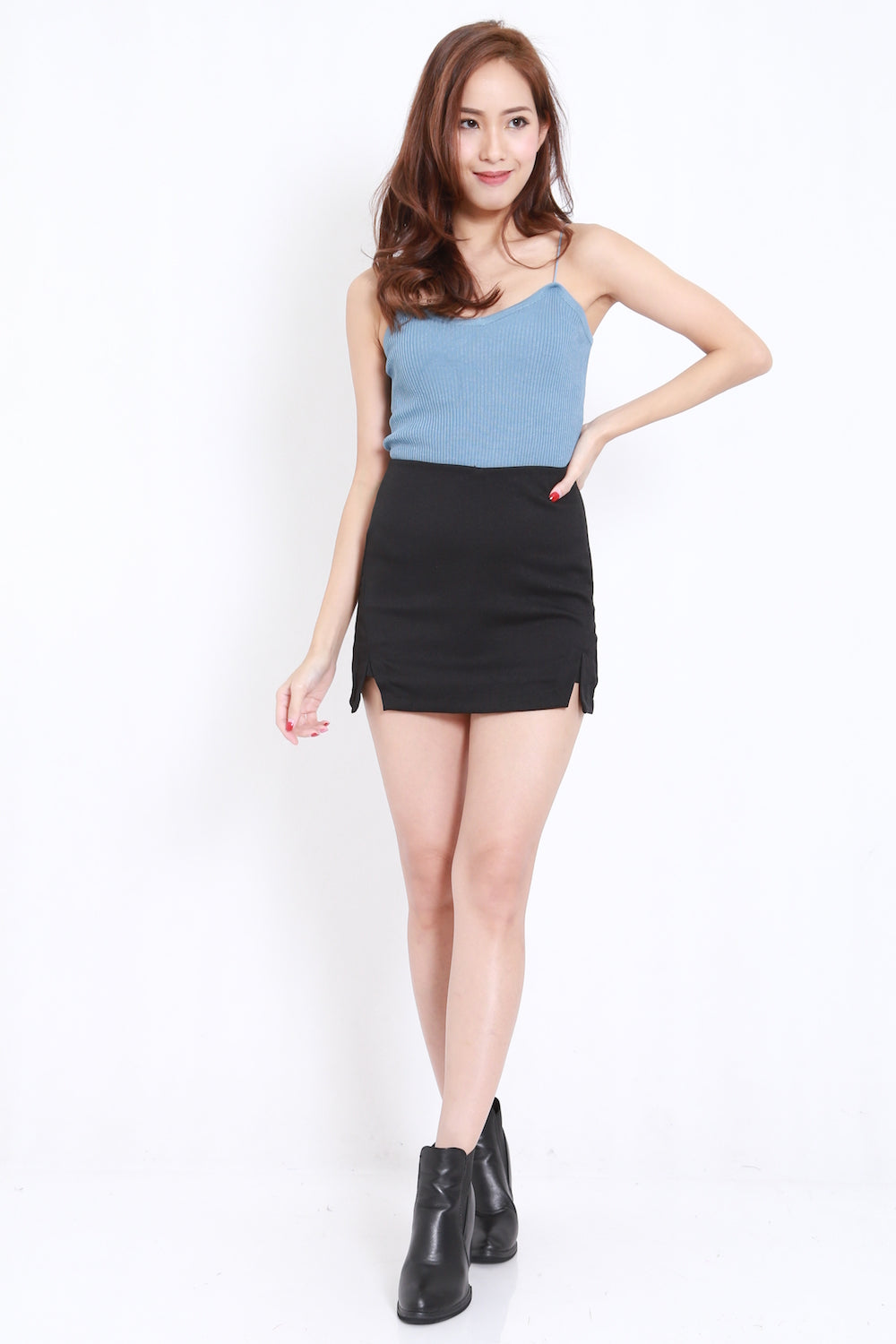Knit Spag Top (Blue)