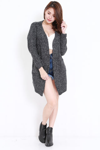 Knitted Cardigan Dark (Grey)