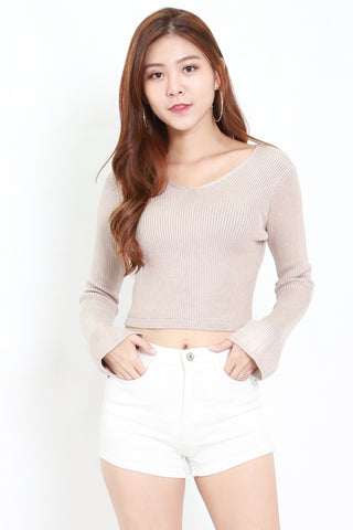 Knitted Long Sleeve Top (Oatmeal)