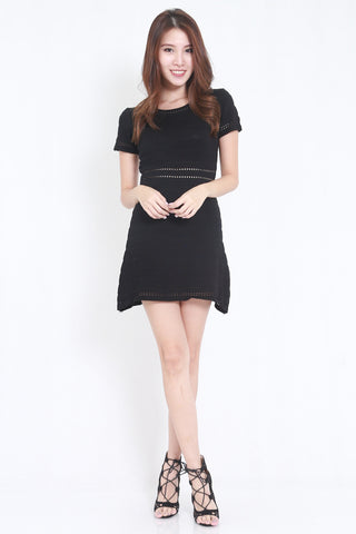 Knitted Swing Dress (Black)
