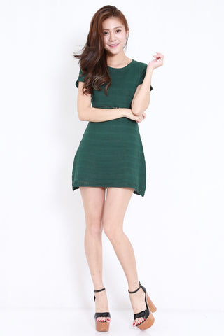 Knitted Swing Dress (Forest)