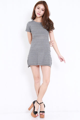 Knitted Swing Dress (Grey)