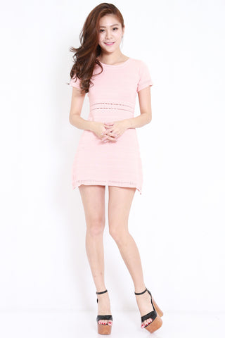 Knitted Swing Dress (Pink)