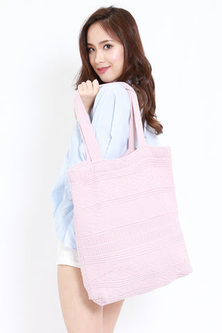 Knitted Tote (Blush)