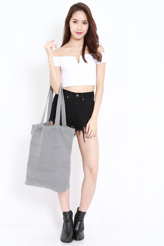 Knitted Tote (Grey)