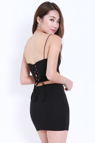 Lace Back 2pcs Set (Black) -  - 2