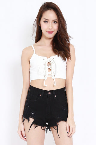 Lace Crop Spag