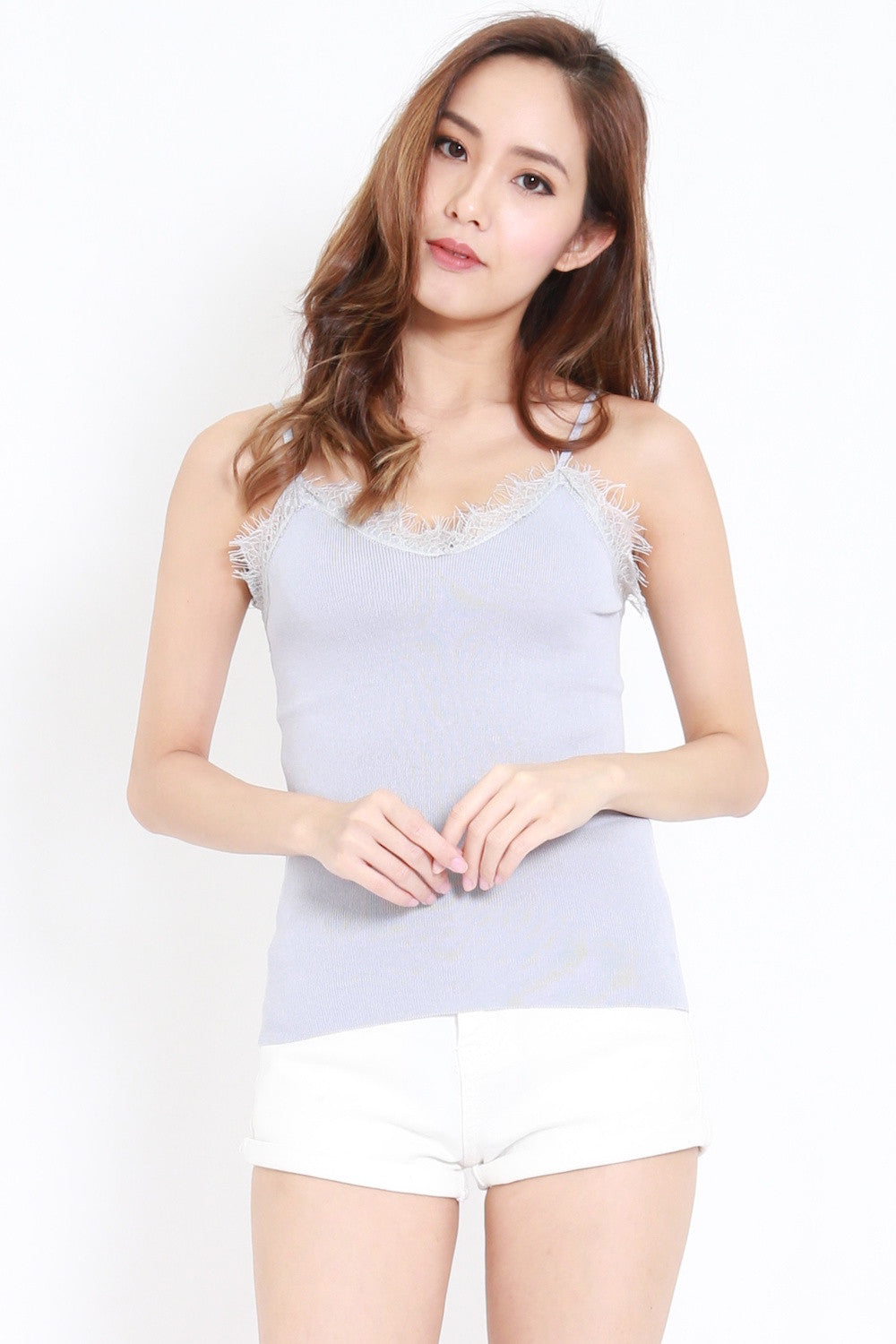 Lace Knit Spag (Grey)