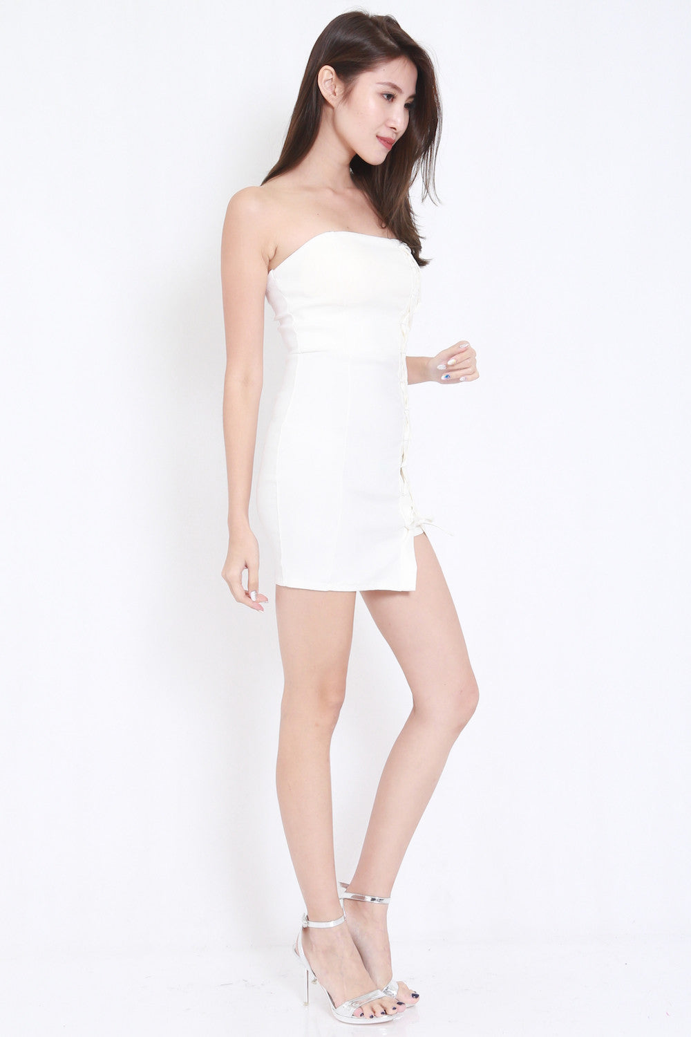 Lace Tube Dress (White) -  - 6