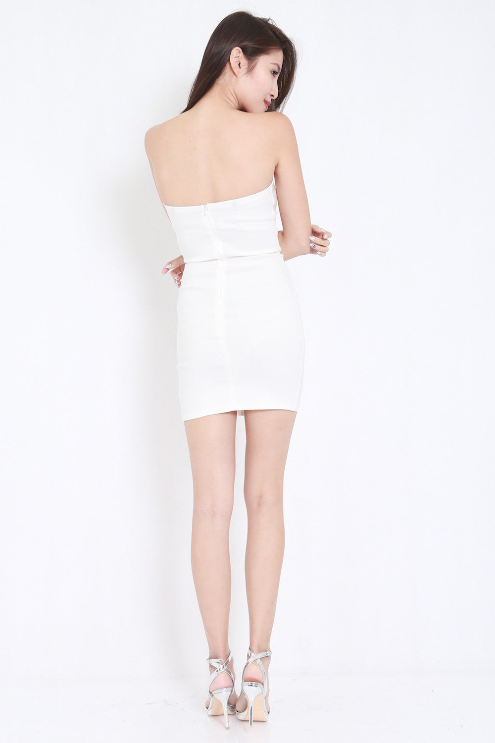Lace Tube Dress (White) -  - 7